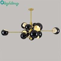 Post Modern Pendant Lights Cosmos Round Shades 10 Lights 13 Lights Black White Pendant Lamp Decorative