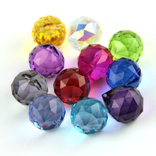 8pcs/lot  Mixed Colors Size Feng Shui X-mas Crystal Ball Prism Pendant For Parts