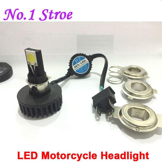 1650LM 6000K 15W Motorcycle LED H4 Headlight Bulb Hi/Lo