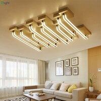 Modern Metal Dimmable Led Chandeliers Lighting Lustre Acrylic Living Room Led Ceiling Chandelier Lights Bedroom Led