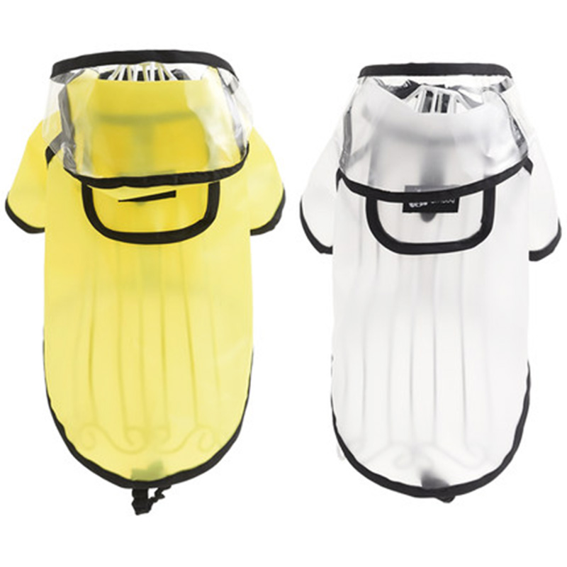 HELLOMOON Fashion Pet Dog 2 Colors 10 Sizes Waterproof Poncho For Small Middle Large Dogs Puppy Hooded Large Dog Raincoat