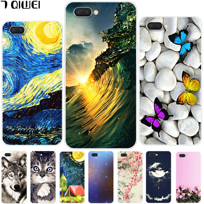 6 2'' For Oppo A3S Case Oppoa3s Soft Silicon TPU Back Cover For OPPO A5  OPPOA5 Case A 3S A3 S 5 Cover Animal Protective Cases
