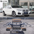 High quality X4M F26 PP M Sport style unpainted Auto Car Styling Body Kits For BMW X4 to X4M F26 2014UP