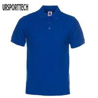 Новая брендовая мужская рубашка поло, мужская хлопковая рубашка поло с коротким рукавом, Повседневная Однотонная рубашка Camisa Polo Masculina De Marca ...