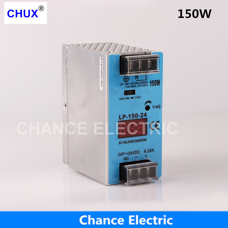 24V 12V Switching Power Supply 150W Mini size Din Rail Single Output 100-240V input LP150W Power Suppliers dual output switching power supply 12v 24v 100 120v 200 240v input led power supply 150w 12v 24v transformer
