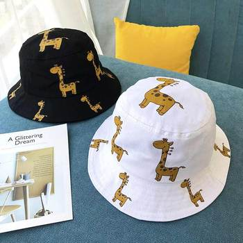 Cartoon Giraffe Printed Sun Hat for Kids 3