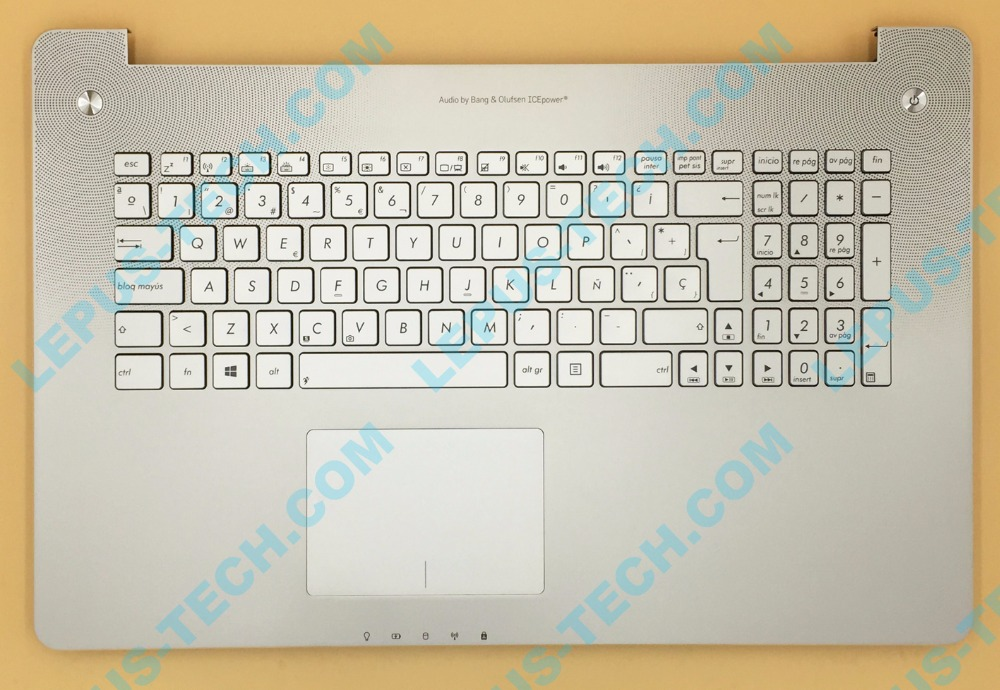 SP LA Keyboard for ASUS N750 N750JK N750JV with backlight top case palmrest Spanish layout цена