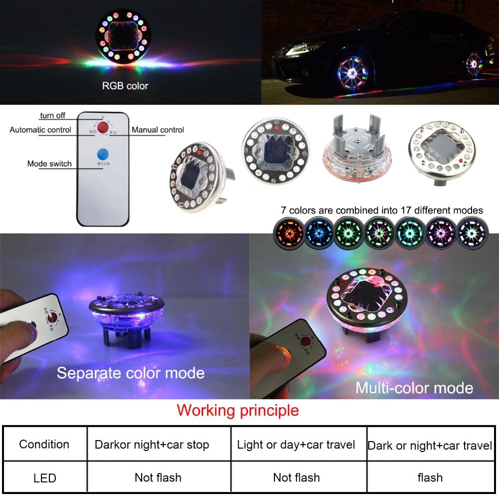 LEADTOPS 4pcs RGB ilə işləyən avtomobil yüngül təkərli xarici - Avtomobil işıqları - Fotoqrafiya 4