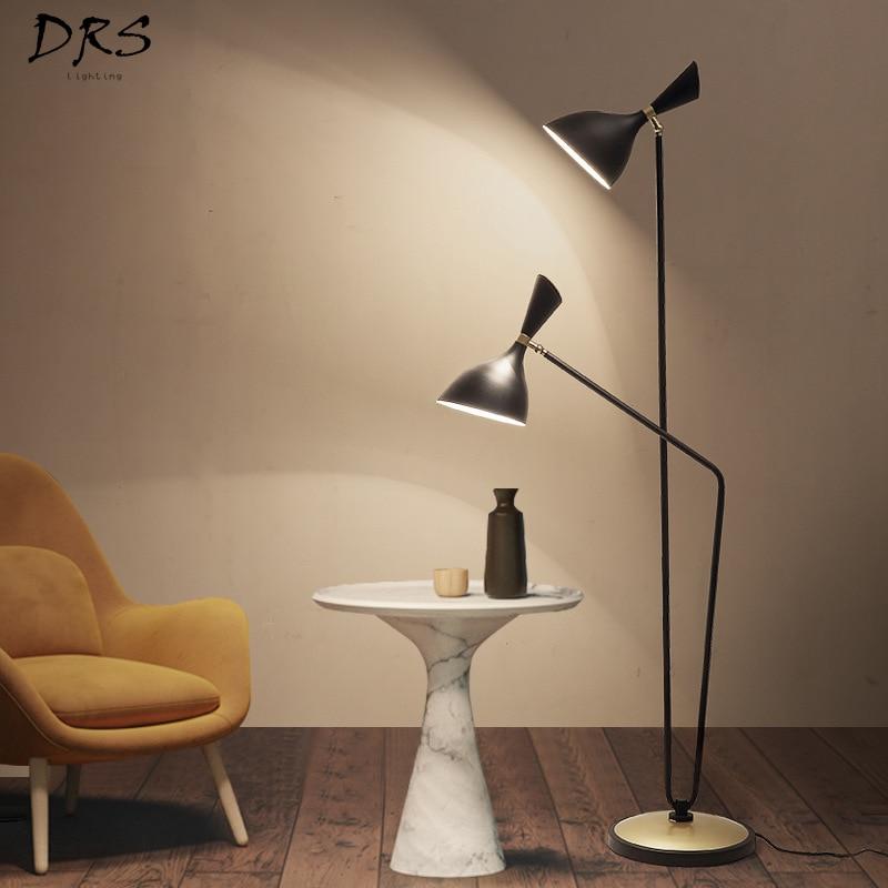 Postmodern Oblique Speakers LED Floor Lights Bedroom Floor Lamps for Living Room Double Head Nordic Lampara De Pie Standing Lamp