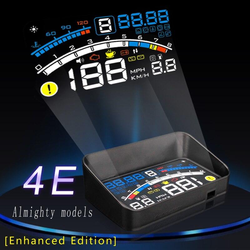 """imágenes para 2017 4E 5.5 """"Head Up Display HUD OBD II EOBD Proyector Auto-adaptativo de Combustible Del Coche Del Parabrisas etc Parámetro Pantalla de Advertencia de Exceso De Velocidad"""