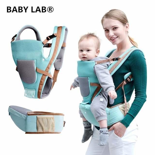 Infant Carrier Seat >> Us 19 55 25 Off Baby Lab Breathable Multifunctional Breathable Kangaroos Backpack Infant Sling Carrier Hip Seat Baby Carrier For All Seasons In