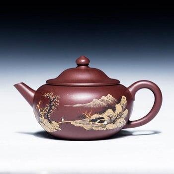 300ml Yixing authentic purple sand tea pot original mine master all handmade teapots kung fu tea kettle purple mud Zisha teapot