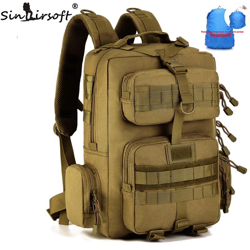 SINAIRSOFT Outdoor Climbing Bag Men's 1000D Nylon Sports Military Tactical Backpack Travel 30L Bags Hunting Hiking Shoulder Bag outdoor military tactical backpack bags multi function men waterproof nylon big capacity bag hiking climbing travel backpack bag