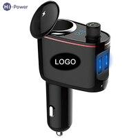 Hi Power Universal Vehicle Mounted Bluetooth MP3 Car Charger 100W DC 12 24V 2 USB Port 1 Way Car Cigarette Lighter LED Display