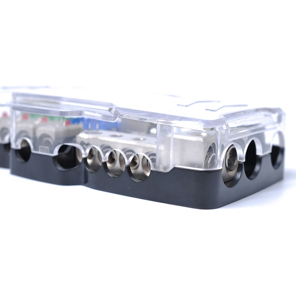 Led Car Audio Stereo Distribution Block Ground Mini Anl Fuse 4 In 220 Screw Box 1