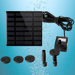 New Solar Power Panel Water Pump Garden Brushless Pond Fountain Pool Water Pump