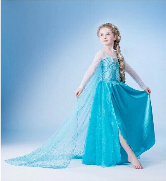 Fancy Baby Girls Christmas Halloween Party Lace Tutu Dress Cosplay Princess Clothes For Kid Girls Costume Blue Evening Prom Gown pearl beading faux fur pocket ribbed dress