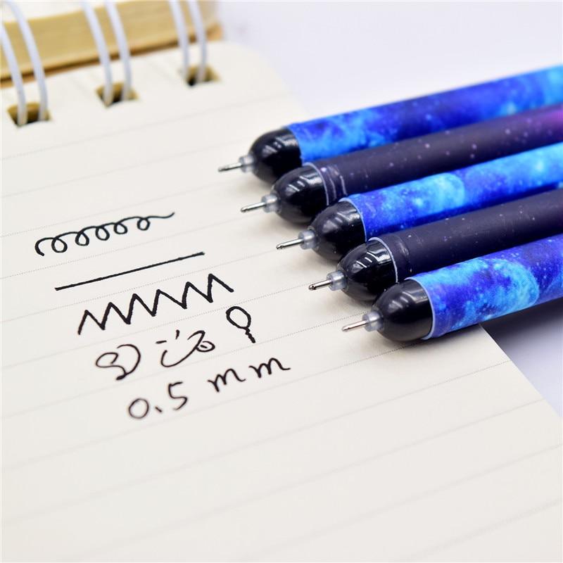 Image 4 - 12Pcs/Set Creative Mini Gel Pens Kawaii Cute Constellation Writing Pen 0.5mm Black Ink Color Pendant Pencil School Stationery-in Gel Pens from Office & School Supplies