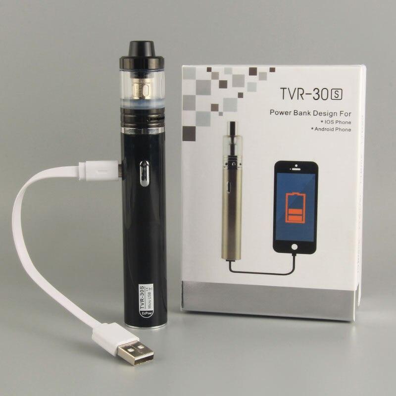 Electronic Cigarette Ecpow TVR 30S e-cigartte mod POWER BANK function Micro usb e cig hookah vape pen 0.5ohm vs IJUST 2 ego Aio