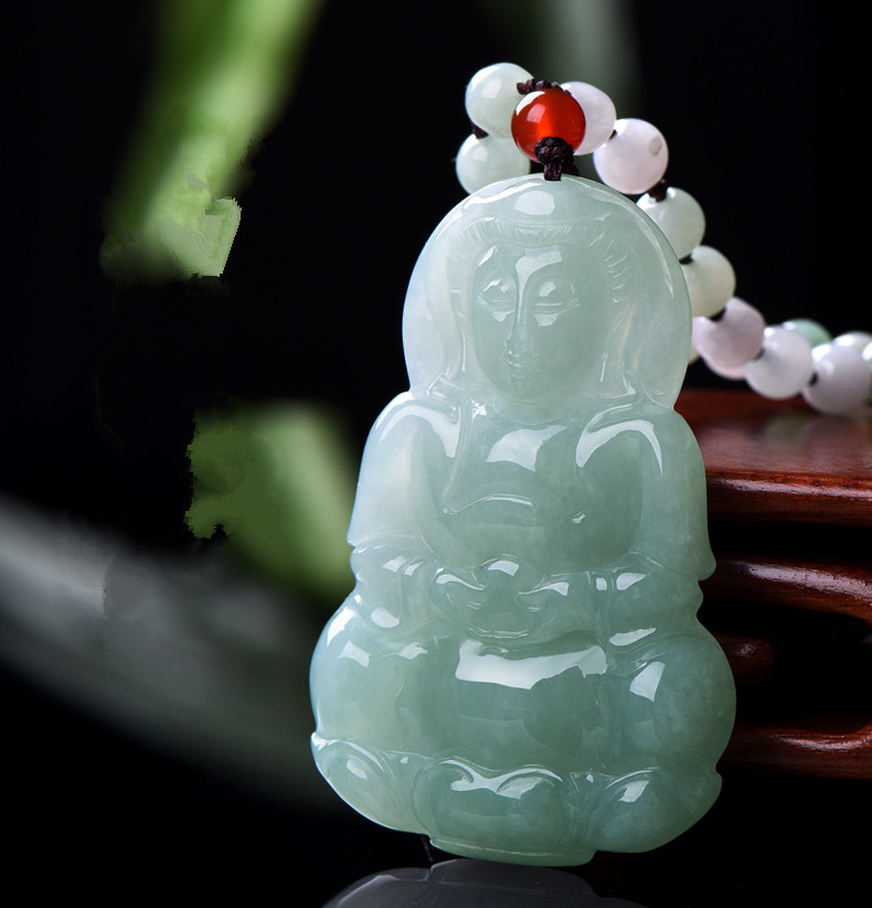 Burma natural yu Guanyin pendant, a kind of ice wax yu Guanyin pendant/. туфли sha yu zi 2015 ol 34