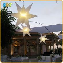 Гигантская Красивая надувная светодиодная светящаяся звезда, красочная надувная фигурная звезда для украшения сцены