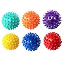 7 см 6 цветов ПВХ коврик для фитнеса шарики для массажа рук ПВХ подошвы Ежик сенсорный хват тренировочный мяч портативный шар для физиотерапии