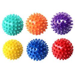 7 см 6 цветов ПВХ коврик для фитнеса шарики для массажа рук ПВХ подошвы Ежик сенсорные хват тренировочный шар портативный шар для