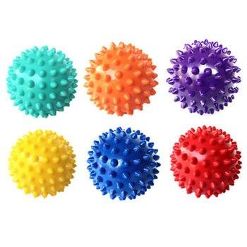 7CM 6 colores PVC de ejercicios Bola de masaje de mano PVC suelas Hedgehog agarre entrenamiento sensoral la pelota de fisioterapia portátil