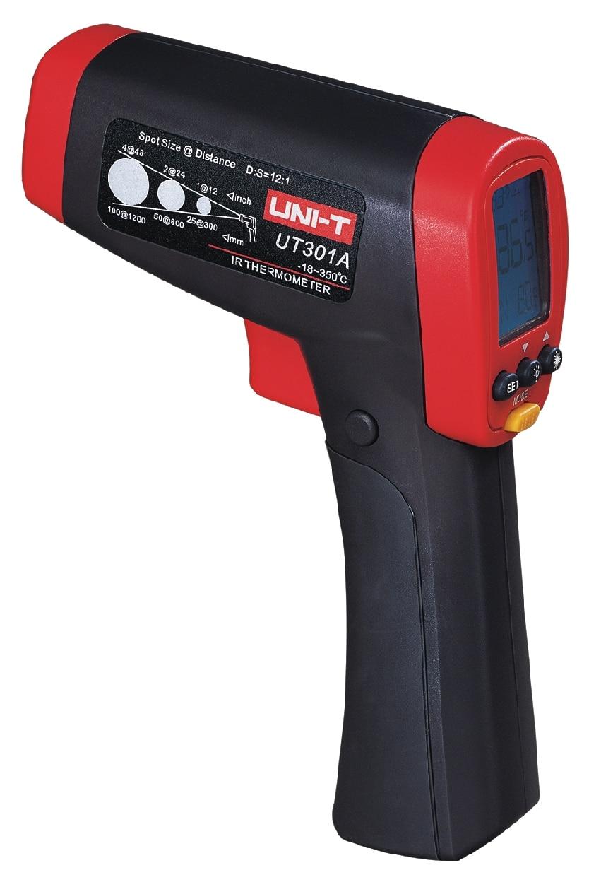 UNI-T UT301A UT301C Infrared IR Thermometer Laser Temperature Gun Meter Range -18~550 Degree Handheld Style Non-Contact Meter new uni t ut302b 32 550 c 20 1 infrared thermometer