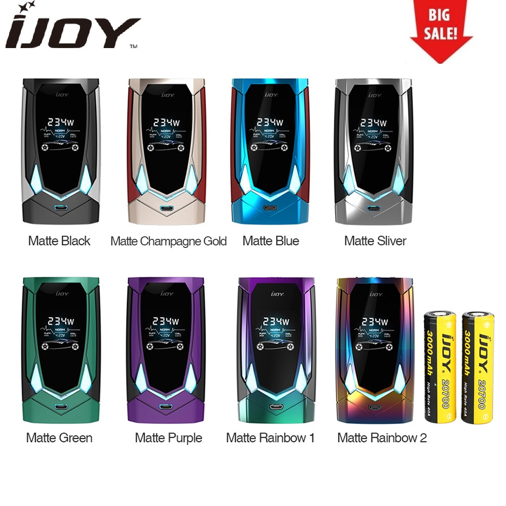 лучшая цена Hot Original IJOY Avenger 270 234W Voice Control TC Box MOD 6000mAh Battery with English Voice Control Vape Box Mod Vs Cylon Mod
