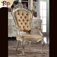 Royal Classic European Furniture Hand Carved Baroque Office Chair Free Shipping