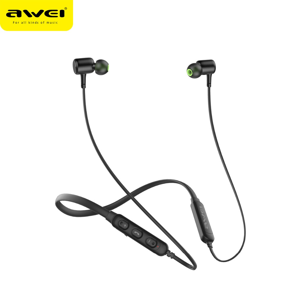 AWEI G30BL Neckband Bluetooth Headphone Magnetic Bluetooth Earphone Sport with mic Stereo Wireless Headset for phone Earbuds 1