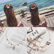 1PC New Arrival moda opaski dla kobiet stop kryształ Hairbands powrót uchwyt nakrycia głowy dziewczyny urocza opaska do włosów akcesoria do włosów tanie tanio alloy WOMEN Dla dorosłych Floral PJ-485