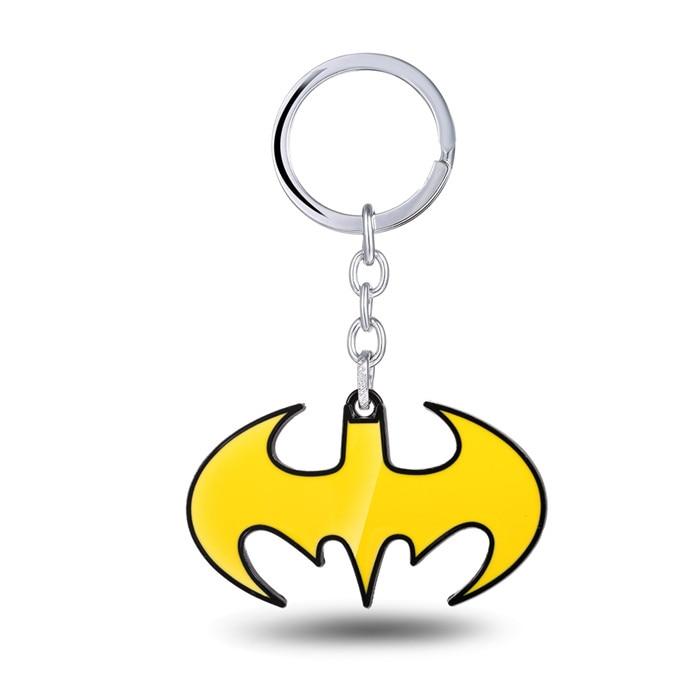 MOON Batman Movie Keychain yellow bat logo keychain Gift Men Women Souvenirs wholesale&r ...