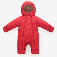Infant Brand Girls Clothes Down Jacket Baby Boys Romper Warm Children Winter Jumpsuit Outerwear Toddler Clothing
