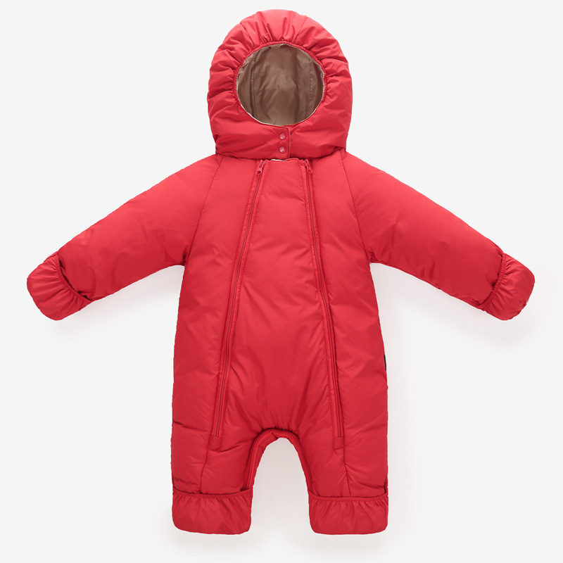 Infant Girls Romper Clothes Down Jacket Baby Boys Thick Warm Coat Children Winter Jumpsuit Outerwear Toddler Clothing For Girl children winter coats jacket baby boys warm outerwear thickening outdoors kids snow proof coat parkas cotton padded clothes