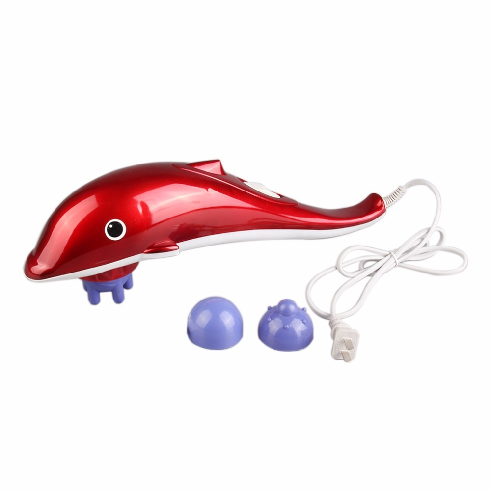 Infrared 3in1 Handheld Tissue Body Massager electric Dolphin Massage Hammer Stress Pain Reliver Relax Vibration Slimming machine beurha munti function body massager electric slimming massage vibration slimming machine fat burner galvanic infrared ultrasonic