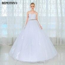 Vestido De Novia кружевное винтажное свадебное платье с поясом размера плюс со шлейфом без рукавов Свадебные платья Robe De Mariage