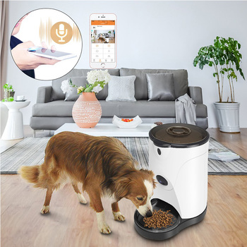 Automatic Pet Feeder with 110° HD Camera Video Voice Recording Real-time Sharing 250ml Water Feeder for Dogs & Cats 1