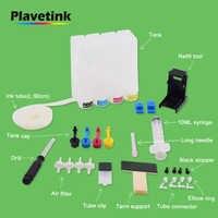 Plavetink Universal Kontinuierliche Tinte Ciss System für Canon, diy Tank für HP Mit Saug Refill Werkzeug Bohrer und alle Zubehör Kit