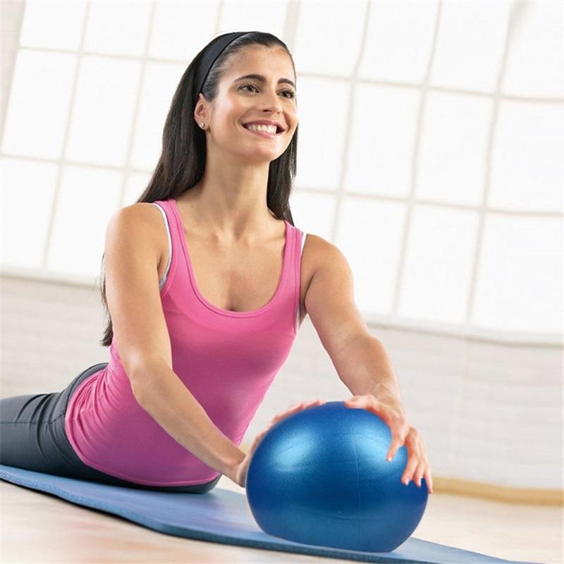 Anti-Pressure Explosion-Proof 25 CM Diameter Yoga Exercise Gymnastics Pilates Yoga Balance Ball Gym Training Yoga Ball