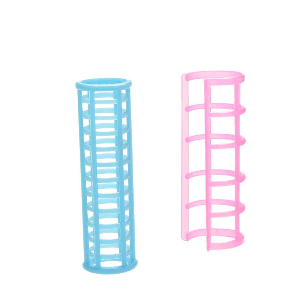 Novo Criativo Rosa e Azul da Cor Criativo Bonecas Crianças Brinquedos Boneca Cabelo Encrespador para s 5 pçs/lote
