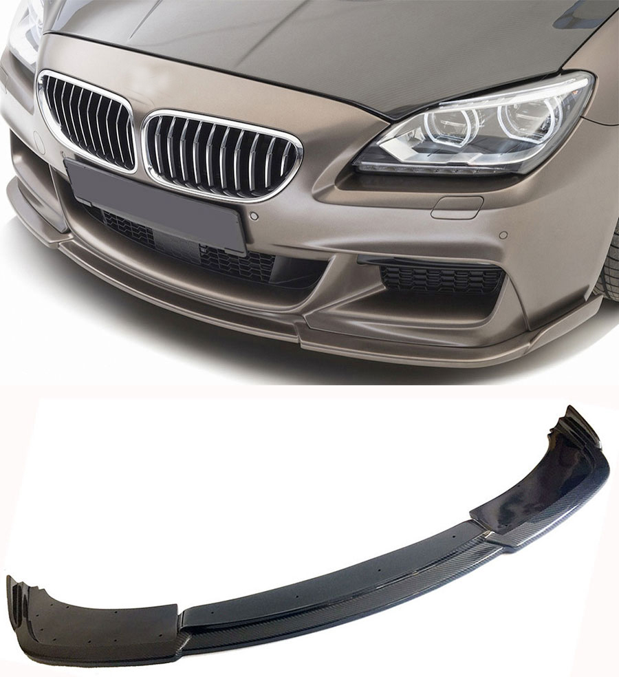 H Style Carbon fiber Front Bumper Lip Spoiler Fit For BMW 6 Series F06 F12 F13