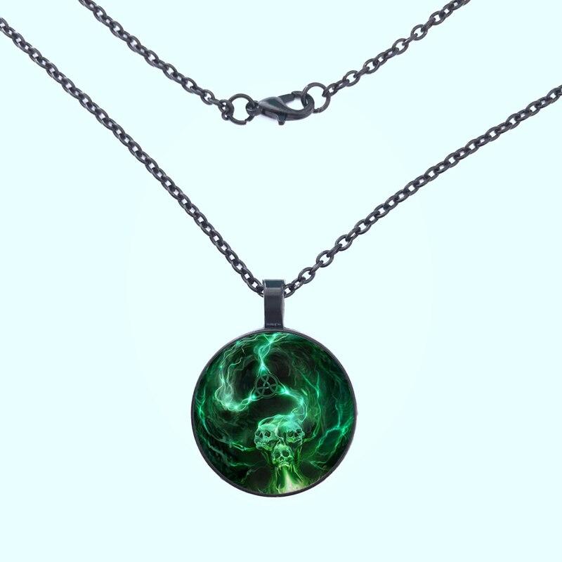 2019 new skull pattern glass women necklace jewelry men and women jewelry gifts custom personalized necklace in Pendant Necklaces from Jewelry Accessories