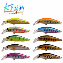 TAF Retail 5cm 5.16g Fishing Lure 3D Eyes Sinking Minnow Hard Bait France VMC Treble Hooks ABS Plastic Isca Artificial Swimbait 6pcs lot 3d painting fishing lure 6 5cm 5g sinking leurre dur peche souple big sea hard bionic bait lures vmc treble 8 hooks