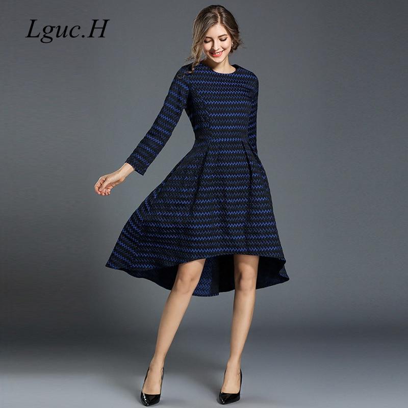 Lguc.H 2018 Trendy Autumn Dress Luxury High Waist Dress Unique ...