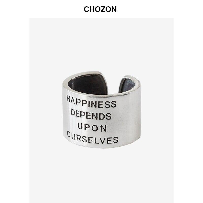 925 sterling silber glück abhängen bis auf uns vintage tun alte breit bereich ring persönlichkeit mode schmuck für frau geschenk