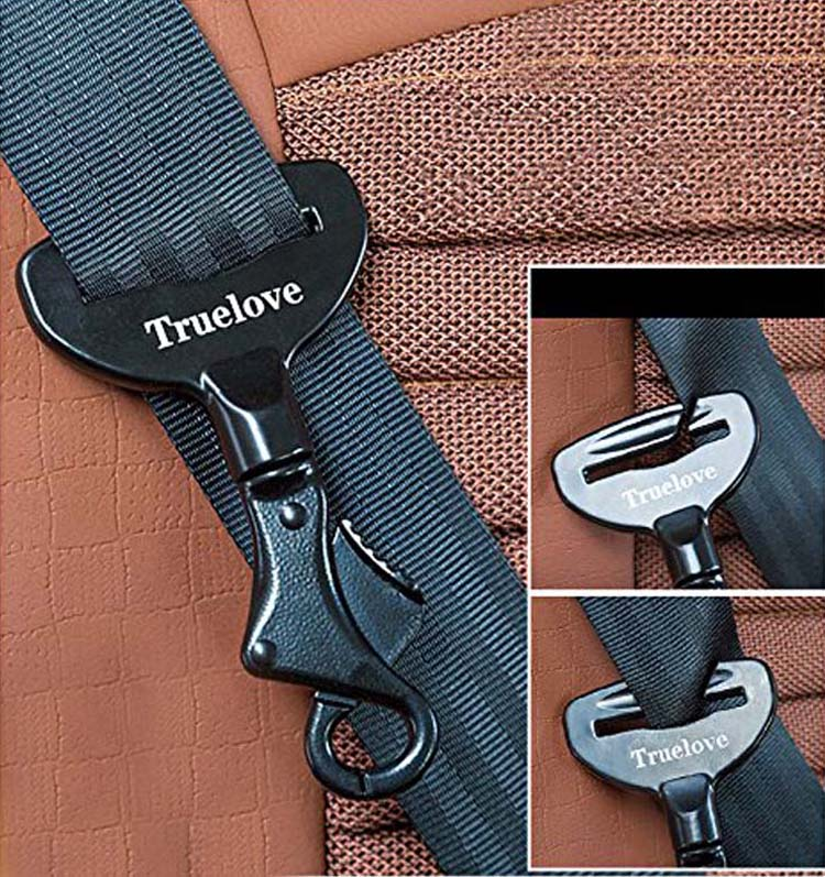 Truelove Vehicle Car Pet Dog Seat Belt Lock Harness Collar Clip Safety Lighweight Durable Aluminium-Alloy Dog Supplies Dropship (4)