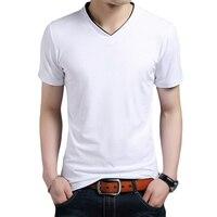 Summer Men S T Shirts 7 Colors V Neck Male TShirts Fashion Trends Fitness Tshirt Cotton