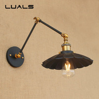 Loft Industrial Wall Lamp Long Arm Retractable Retro Wall Light Restaurant Coffee Shop Metal Iron Edison Indoor Lighting